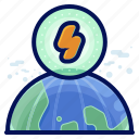 earth, ecology, electricity, environmental, natural, planet icon