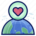 earth, ecology, environmental, love, natural, planet icon