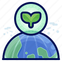 earth, ecology, environmental, natural, planet, plant icon