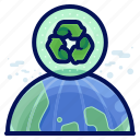 earth, ecology, environmental, natural, planet, recycle icon