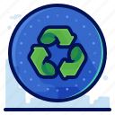 arrow, ecology, environmental, natural, recycle icon