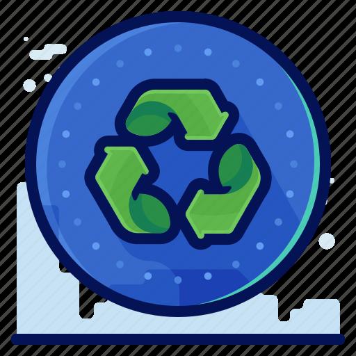 arrow, ecology, environmental, natural, recycle icon