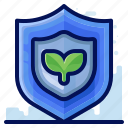ecology, environmental, natural, plant, protect, shield icon