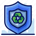 ecology, environmental, natural, protect, recycle, shield icon