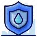 ecology, environmental, natural, protect, shield, water icon