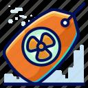 ecology, environmental, natural, nuclear, tag icon