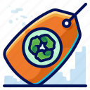 ecology, environmental, natural, recycle, tag icon
