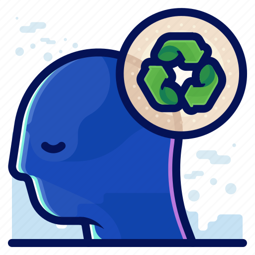 ecology, environmental, natural, recycle, thought icon