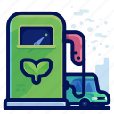 ecology, environmental, fuel, natural, plant, vehicle icon