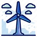 ecology, environmental, natural, power, wind, windmill icon