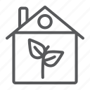 architecture, building, eco, ecology, house, leaf icon