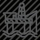energy, fuel, industry, oil, platform, rig, sea icon