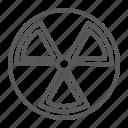 alert, danger, hazard, nuclear, radiation icon