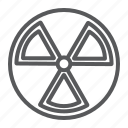 alert, radiation, nuclear, hazard, danger