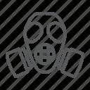 army, defense, gas, mask, radiation, respirator icon