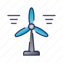 ecology, electricity, energy, green, turbine, windmill icon