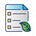 ecology, go green, leaf, nature, schedule icon