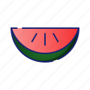 ecology, fruits, garden, melon, nature, water melon icon