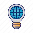 bulb, ecology, idea, nature, web icon