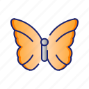 butterfly, ecology, go green, green, nature icon