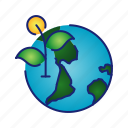 earth, ecology, globe, go green, green, leaf icon
