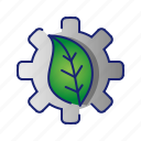 ecology, green, leaf, setting, tools icon
