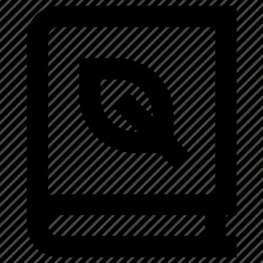 Book, ecology, index, leaf, nature, plant icon - Download on Iconfinder