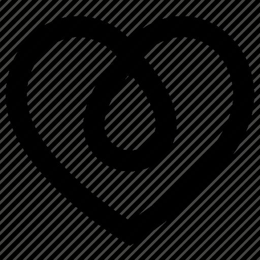 Beverage, drink, fluid, heart, liquid, love, water icon - Download on Iconfinder
