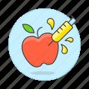 apple, ecology, engineered, engineering, food, genetic, gmo, modified, transgenic icon