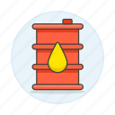 barrel, drop, ecology, energy, oil, renewable icon