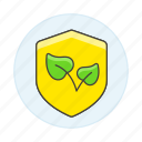 ecology, environmental, plant, protect, protection, shield, sprout, sustainability icon