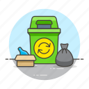 awareness, cangarbage, ecology, environmental, recycle, recycling, sustainability, trash icon