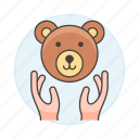 1, bear, ecology, face, fauna, hand, life, nature, protection, save, wildlife icon