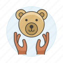 3, bear, ecology, face, fauna, hand, life, nature, protection, save, wildlife icon