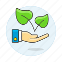 2, ecology, environment, friendly, leaf, natural, organic, package, plant, product, sustainable icon