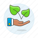 3, ecology, environment, friendly, leaf, natural, organic, package, plant, product, sustainable icon