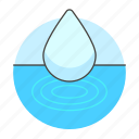 circles, clean, drop, ecology, liquid, water, waves icon