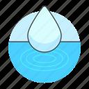 circles, clean, drop, ecology, liquid, water, waves
