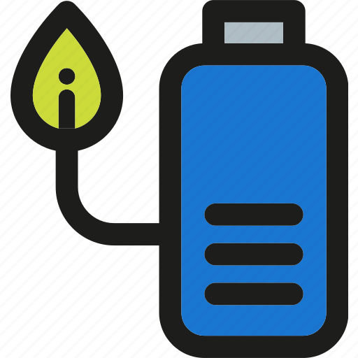 battery, charge, energy, green, nature, plant, power icon