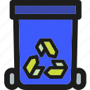 bin, delete, garage, garbage, recycle, remove, trash icon