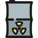 bin, can, ecology, green, nature, nuclear, waste icon