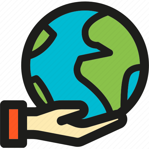 earth, ecology, enviroment, globe, green, hand, nature icon