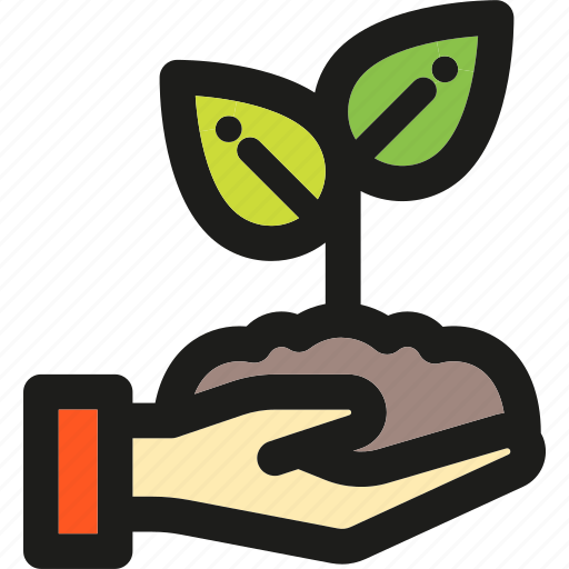 eco, ecology, enviroment, green, hand, nature, plant icon