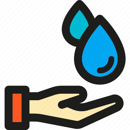 eco, ecology, enviroment, green, hand, nature, water icon