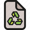 eco, ecology, enviroment, green, nature, paper, recycle icon