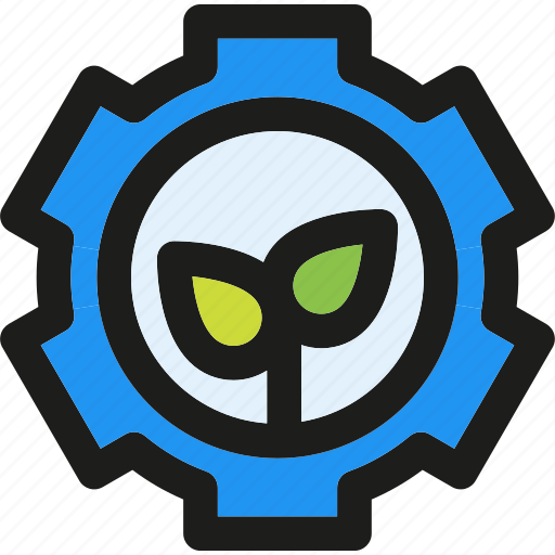eco, ecology, enviroment, gear, green, nature icon