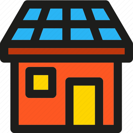 apartment, construction, ecology, green, house, power, solar icon