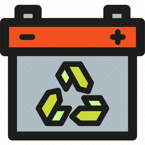 battery, charge, electric, electricity, energy, power, recycle icon
