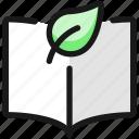 ecology, leaf, book, open