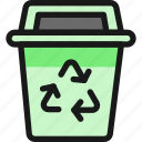 recycling, trash, bin